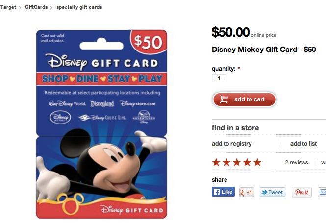 Target Disney Gift Cards