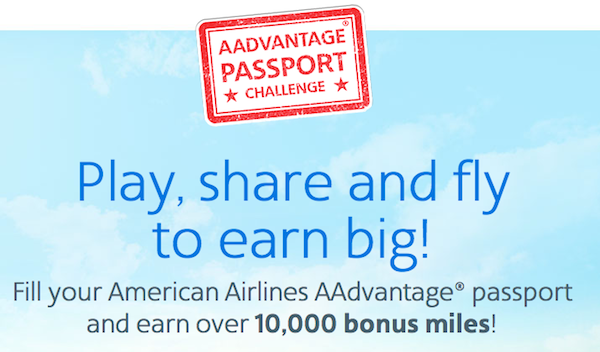 AAdvantage Passport Challenge