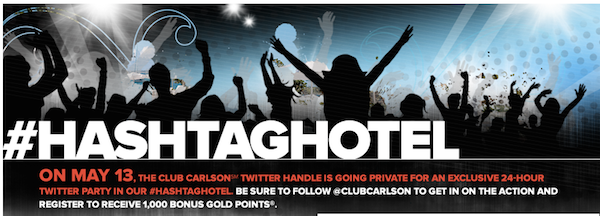Club Carlson hashtaghotel