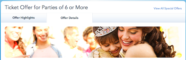 Disney Large Group Offer