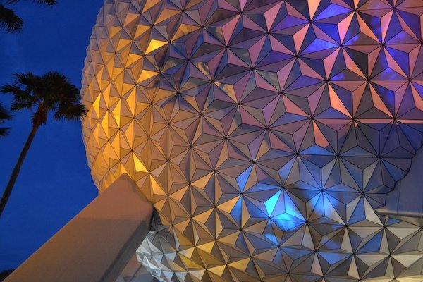 Epcot Spaceship Earth Night