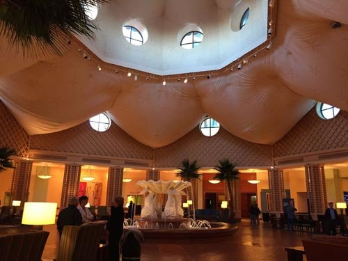 The Huge Lobby and Dolphin Fountain