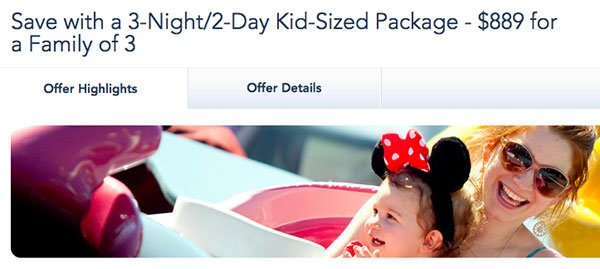 Disney Kid Sized offer