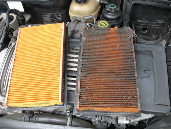 A dirty air filter can impact your MPGs